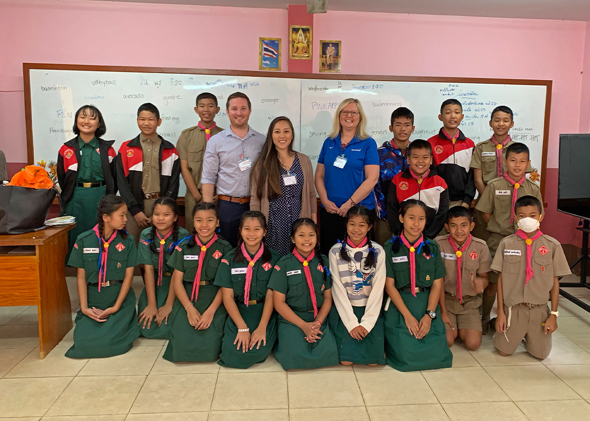 Thailand Teachers with Students